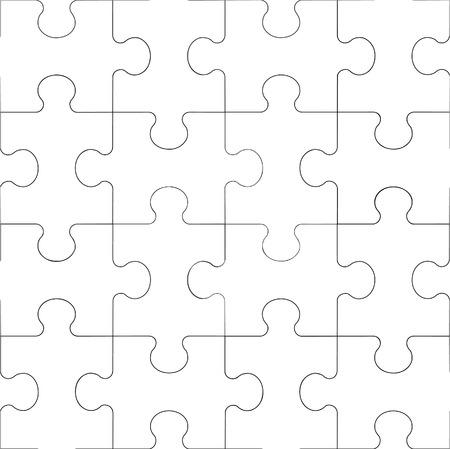 Vector. Seamless puzzle ornement transparente en couleur 60