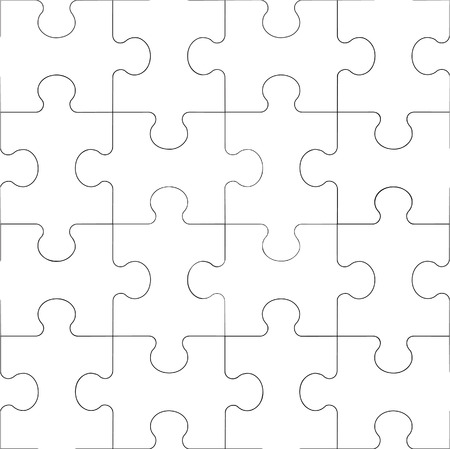 puzzle: Vector. Seamless transparent ornament puzzle in color 60 Illustration