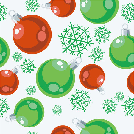 Seamless ball stocking ornament in color 77 Vector