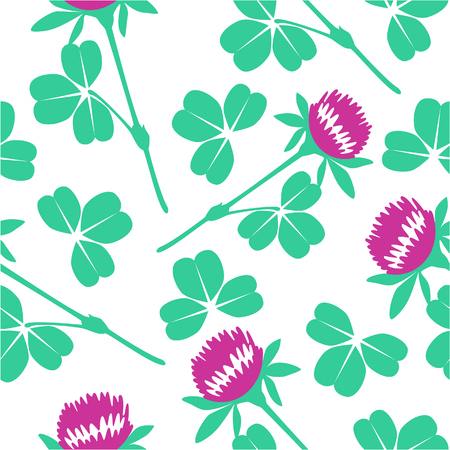 Seamless ornament with clover in color 76 Stock Vector - 5741601