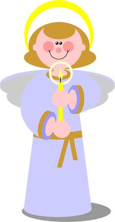 02: Vector. Smile angel  in color 02 Illustration