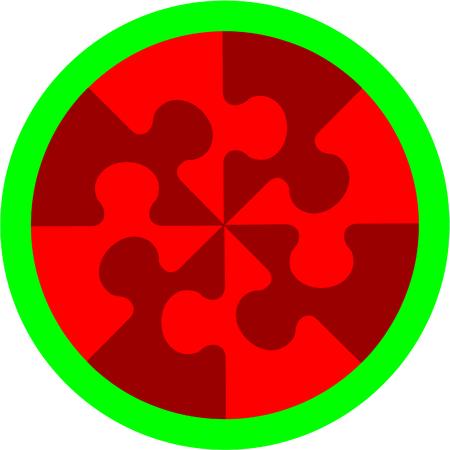 azal�e: Vecteur. Puzzle cherry abstraite en couleur 14 Illustration