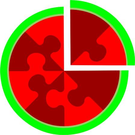 azal�e: Vecteur. Abstraite cerise �nigme en couleur 16  Illustration