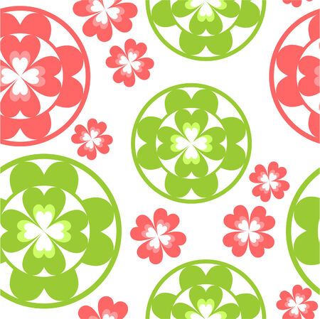 92: Vector. Seamless ornament  in color 92