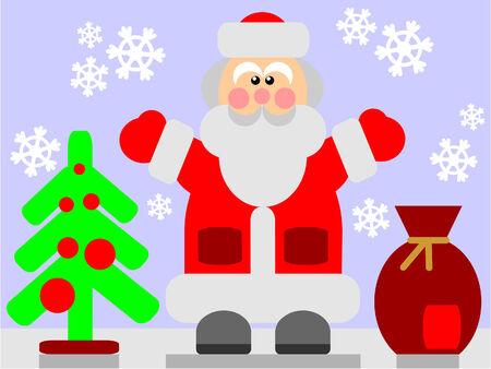 Vector. Santa Claus in color 03 Stock Vector - 5865684