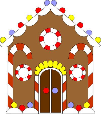 Vecteur. Gingerbread House couleurs 02