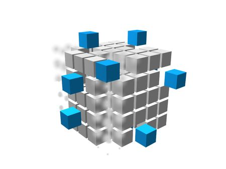Immagine. cubo 3D 03