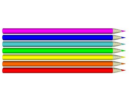 Image. 3d 6-color pen set 33 Stock Photo - 5922681