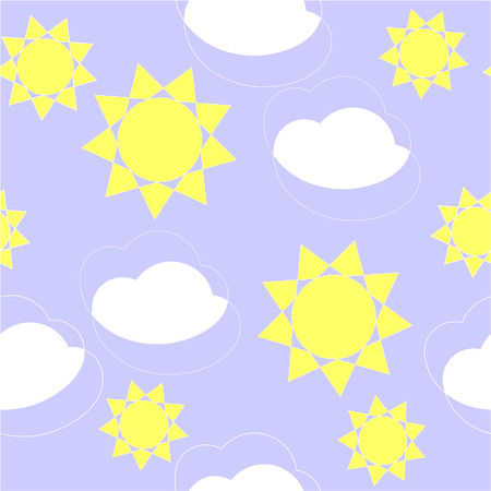 Vector. Seamless ornament with clouds  in color 131 Vector