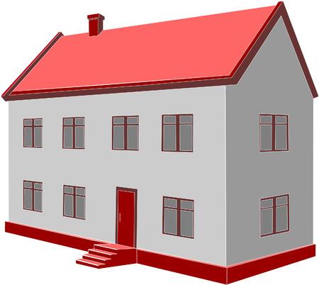 3d home Vector