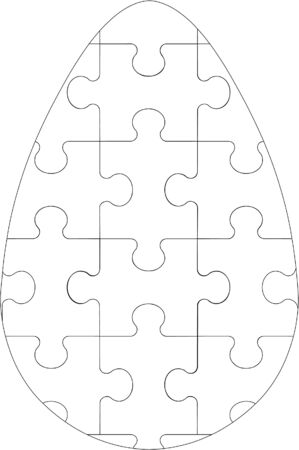 puzzle egg  Vector