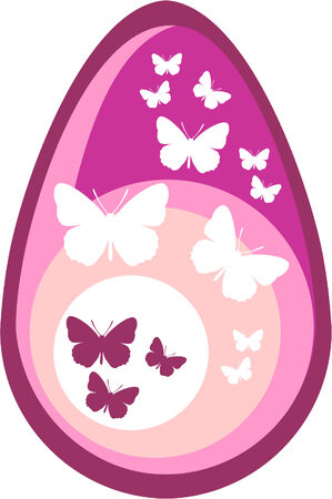 Holiday gift egg Vector