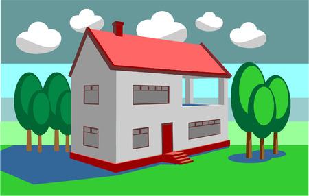 Vector. 3d home in color 08 Illustration