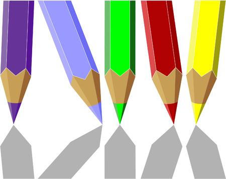 Vector.Pen set in color 04 Vector