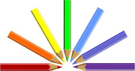 Vector.Pen set in color 05 Vector