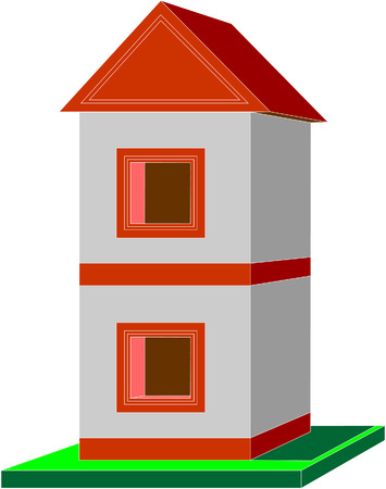 Vector. 3d home in color 09 Vector