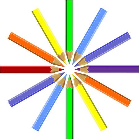 Vector.Pen set in color 06 Vector