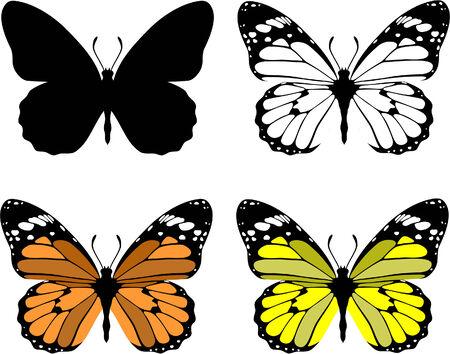 Vector. Butterfly set 10 Stock Vector - 6125978