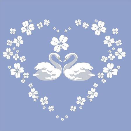 色 02 白鳥カップル