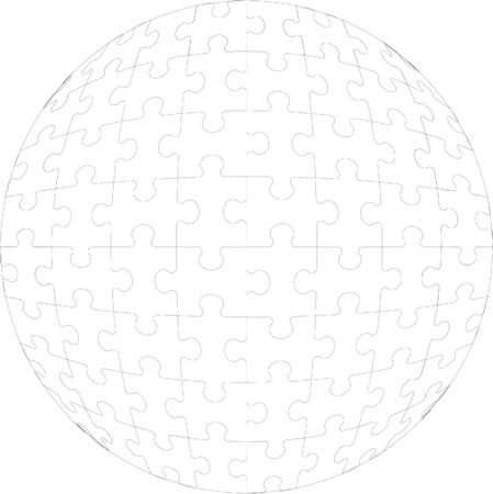 3d puzzle ball Vector