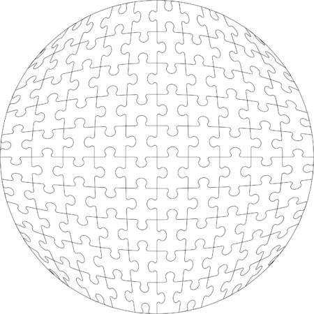 Vector.3d puzzle ball in color 22 Vector
