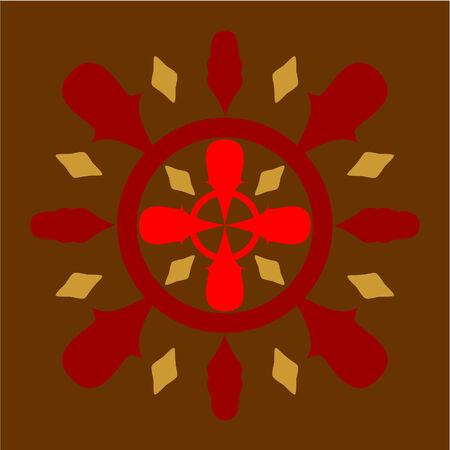 rubin: Vector. Ornament  in color 42 Illustration