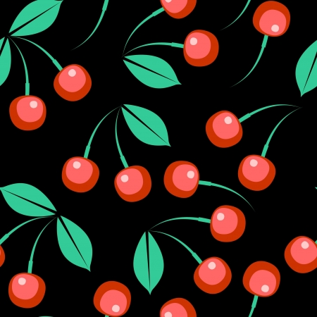 Seamless berry ornament Vector
