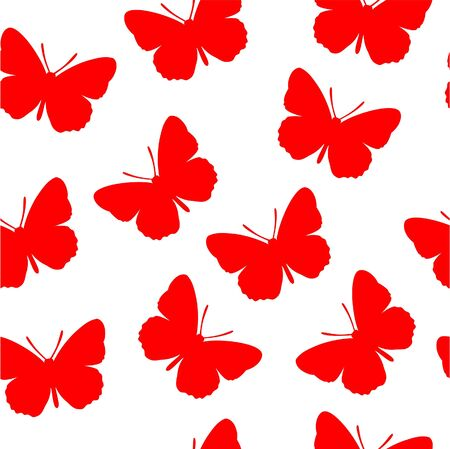 red butterfly: Seamless ornament  in color 59