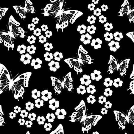 black butterfly: Seamless texture