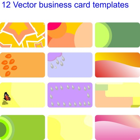 ビジネス カードのセット  イラスト・ベクター素材