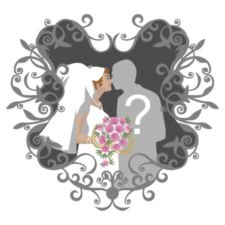 Wedding couple in color Stock Vector - 7109857