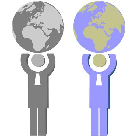 Earth globe set Stock Vector - 7109875