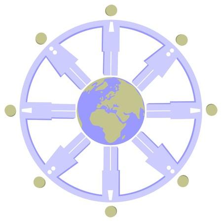 Earth globe set Stock Vector - 7109874
