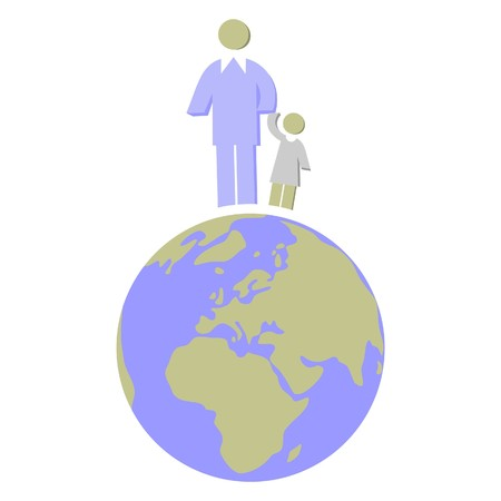Earth globe set Stock Vector - 7109868