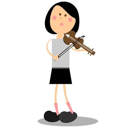 Ragazza musican