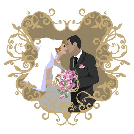 Wedding couple Illustration