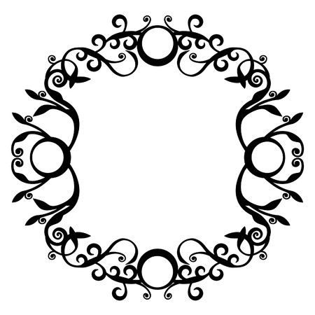 黒 70 で飾りサークル  イラスト・ベクター素材