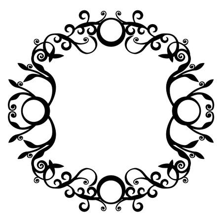 Ornament circle in black  70