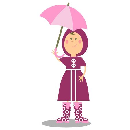 Girl walking with umbrella 19 Stock Photo - 7201916