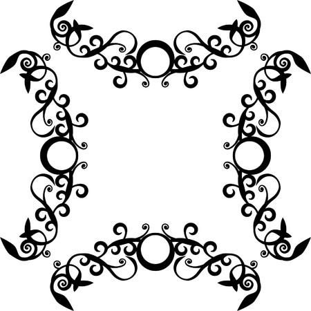 Ornament circle in black  71 Stock Photo - 7201923