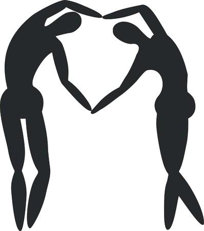 Couple silhouette 02 Illustration