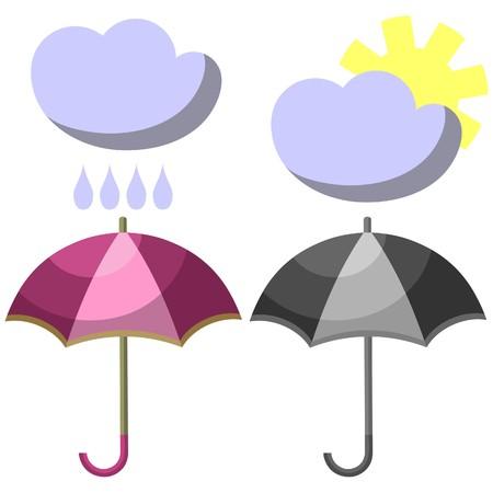 Umbrella set 001 Vector