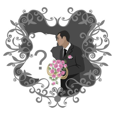Wedding couple in color 11 Stock Vector - 7298711