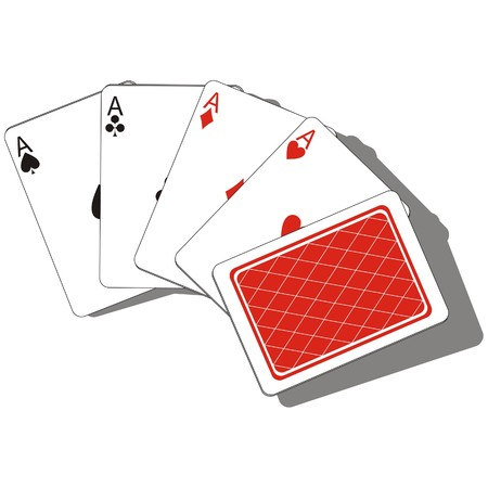 ace hearts: Vector. Playing card set 01 Illustration