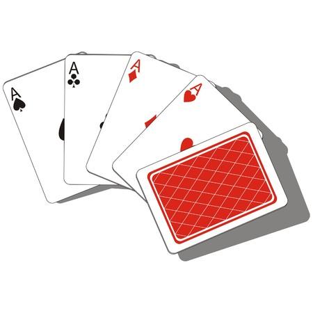 kartenspiel: Vektor. Spielkarte set 01