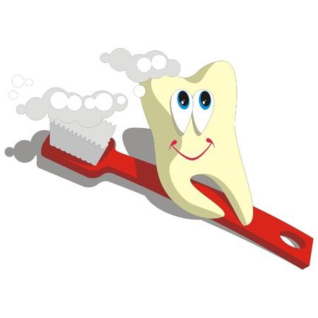 toothache: Vector. Tooth cartoon set 003