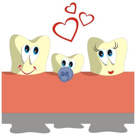 holten: Vector. Tooth cartoon instellen 005