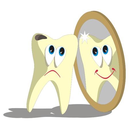 tooth cartoon: Vector. Tooth cartoon set 006