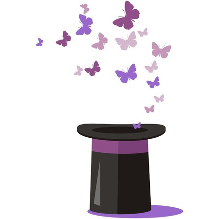 Sombrero mágico  Ilustración de vector