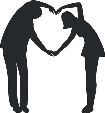 Couple silhouette  Stock Vector - 7830408